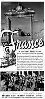 1952 French government tourist office France travel vintage photo print ad ads41