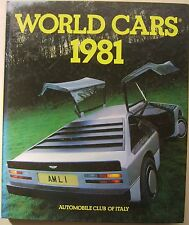 World Cars 1981 annual reference book on motor industry, manufacturers & models