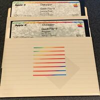 Quick File // software disks for Apple IIe 2e vintage computer verified!