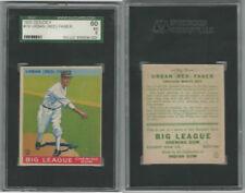 1933 Goudey Baseball, #79 Red FaberHOF, White Sox, SGC 60 EX