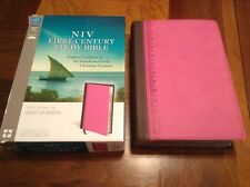 Niv 1st First Century Study Bible - $79.99 Retail - Orchid / Charcoal Duo Tone