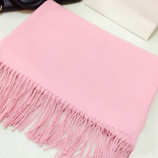 Women Ladies Winter Warm Pashmina Silk Cashmere Solid Long Shawl Wrap Scarf