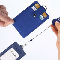 Lanyard Leather ID Business Case ID Badge Holder Name Card Work Card Holders