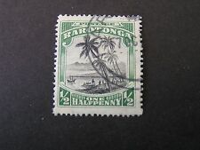 COOK ISLANDS. SCOTT # 61, 1/2p VALUE GREEN & BLACK 1920 LANDING OF COOK USED