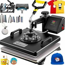 8in1 Combo T Shirt Heat Press Transfer 15x15 Printing Machine Swing Away