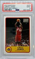 2003 Topps Bazooka Lebron James Road Red Jersey #223 Rookie Card PSA 10 💎