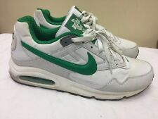 Nike Air Men 343886-1000 White/ Green Athletic lace up Shoes size US 13 EUR 47.5