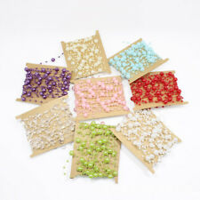 5M Christmas String Pearl Plastic Bead Garland Spool Bouquet Party Wedding Decor