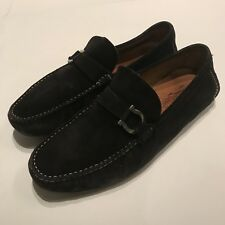 Men's SALVATORE FERRAGAMO 'Parigi' Black Suede Loafers Size US 11 - D