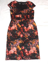 BNWT PAPER DOLLS UK 8 EUR 36 FLORAL ROSE COCKTAIL PARTY BODYCON PENCIL DRESS