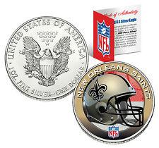 NEW ORLEANS SAINTS 1 Oz .999 Fine Silver American Eagle $1 US Coin NFL LICENSED