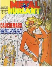 METAL HURLANT N° 90 CAUCHEMARS LE JEU VIDEO DE METAL HURLANT 1983 TRES BON ETAT