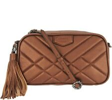 Aimee Kestenberg Pebble Leather Camera Crossbody Bag - Kat NEW Metallic Choco
