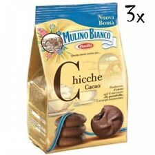 3x Mulino Bianco Chicche Biscuit with chocolate cacao cookies cocoa 200 g italia