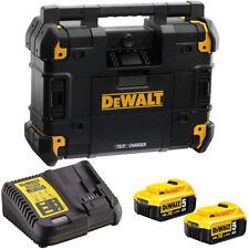 DeWalt DWST1-81079-GB 18V TSTAK Jobsite Radio with 2 x 5.0Ah Batteries & Charger
