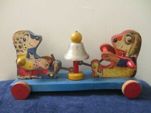 """The Gong Bell Pull Toy """" 1950's Vintage."""