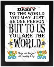 Worlds Best Daddy Dad Pop FATHERS DAY Present Personalised Birthday Gift For HIM