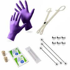 Industrial Piercing Kit  3 Barbells, Corks, Needles, Gloves, Forceps