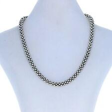 "Lagos Caviar 7mm Beaded Necklace 16"" Sterling Silver 925 Designer"