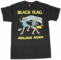 BLACK FLAG T-Shirt Jealous Again Punk Band New Authentic S-2XL