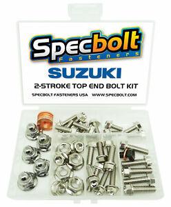 Suzuki RM80 Top End Engine Bolt Kit RM 80 (Nickel)