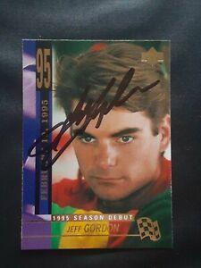 JEFF GORDON NASCAR HOF SIGNED AUTOGRAPHED 1995 UPPER DECK NASCAR CARD