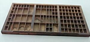 AS IS Antique THE HAMILTON MFG CO. TWO RIVERS WIS. Letterpress Tray WOOD Drawer