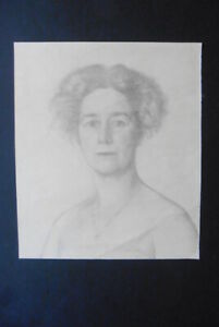 FRENCH SCHOOL 19thC - REFINED PORTRAIT OF A WOMAN - PENCIL DRAWING