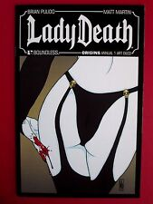LADY DEATH ORIGINS ANNUAL #1 (VFNM) ART DECO NYCC exclusive LTD 1:3 HTF! Grimm