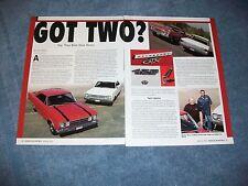 "1966 1967 Plymouth Hemi Belvedere GTX Satelite Article ""Got Two?"""