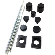 Motorcycle Black Fork Axle Caps Covers For 2006-2009 Kawasaki ZX14 ZX14R ZX-14R