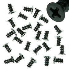 Pack of 25 4.5x8mm Black PC Fan Screws - Computer Case Chassis