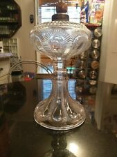Stunning Antique Pressed Glass Oil Lamp