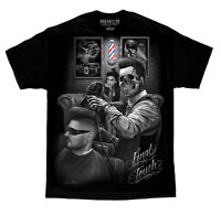 DGA David Gonzales Art Fresh Cut Final Touch Barber Skulls Rockabilly T Shirt