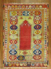 Antique Turkish Melas Bergama Prayer Rug Size 3'7''x5'1''