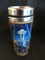 "Seattle Space Needle Insulated Coffee Mug Stainless Steel Tree-Free NIB 7"""
