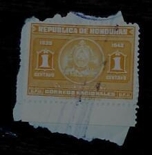 Nice Vintage Used Honduras Escudo De Honduras 1 Stamp, GOOD COND