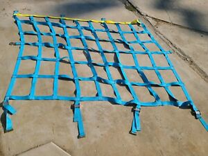 Helicopter/Pallet/container Cargo Net,1.5'' Web 8'x8' heavy duty adjustable