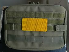 3M Diamond Grade yellow reflective patch for tactical gear. 2 x 4 inches.
