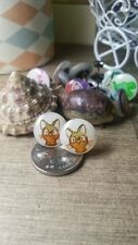 Hand made kitten ear stud earring