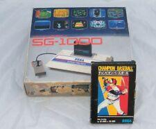 ★ SEGA SG-1000 / EN BOITE & NOTICE + CHAMPION BASEBALL / BOXED + GAME 1983 ★