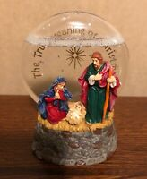 Roman, Inc. 2009 The True Meaning of Christmas Nativity Lighted Water Globe