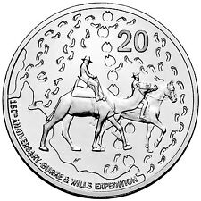 2010 Australia 150th Anniversary of Burke and Wills 20c uncirculated coin
