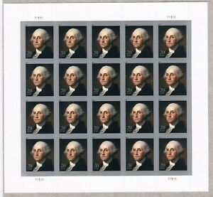 US Scott # 4504. President - George Washington - Sheet of (20) 20c 2020 CV $8.00