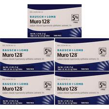 5 pacotes-Bausch & Lomb Muro 128 Pomada 5% 2-ct Tubos De 3.5G em cada