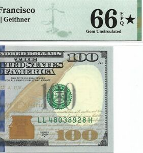 2009A $100 SAN FRANCISCO FRN PMG GEM UNCIRCULATED 66 EPQ BANKNOTE ⭐️ DISEGNATION