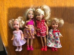 Mattel Barbie Kelly and Chelsea dolls