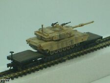 "CAN.DO  1:144 SCALE  ""MILITARY  M1A1/A2  ABRAMS  TANK"" WITH FLAT CAR  #20041-C1"