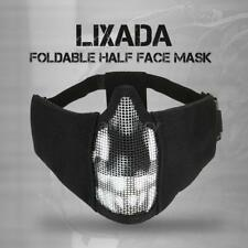 Lixada Foldable Half Face Mask Protective Mesh Mask for Airsoft Paintball T0N8