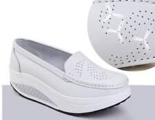 New Slip On Loafers Wedge Heel Platform Mesh Toning Walking Sneakers Nurse Shoes